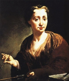 Self-portrait in the Uffizi