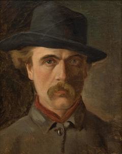 Self portrait wearing a hat