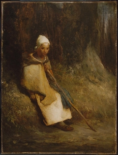 Shepherdess Sitting at the Edge of the Forest