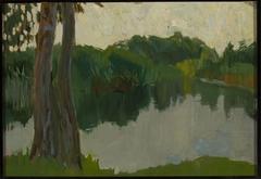 Sketch of a landscape - Pond