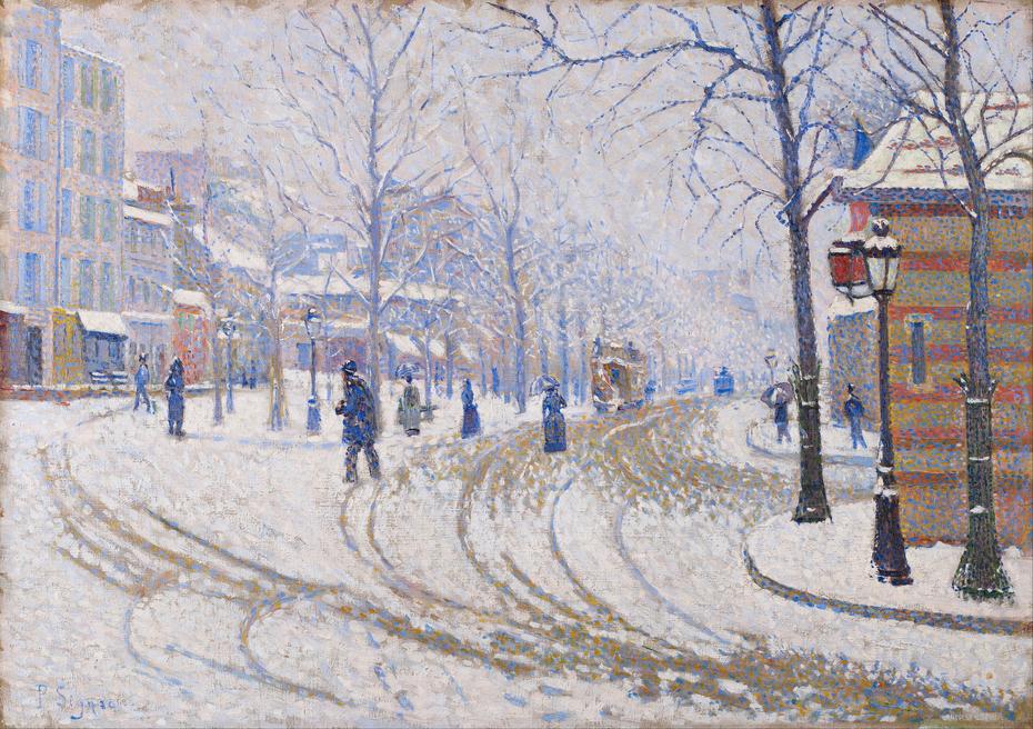 Snow, Boulevard de Clichy, Paris