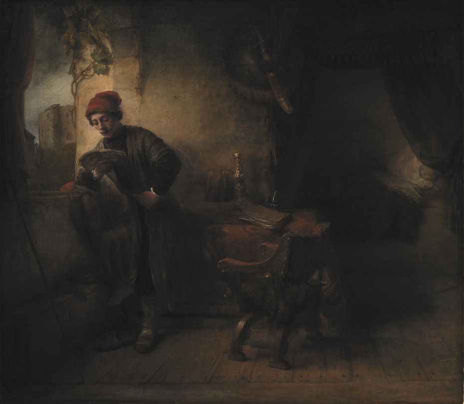 "Standing Young Man at the Window in his Study Reading, known as""The Student"""