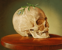 Still Life with a Skull and a Forget-Me-Not