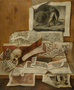 Still Life with Books, Engravings and Maps