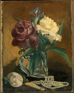 Still Life with Flowers, Fan, and Pearls