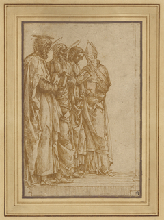 Study of Four Saints (Peter, Paul, John the Evangelist, and Zeno)