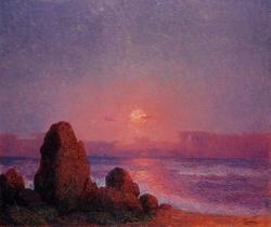 Sunset off the Breton Coast
