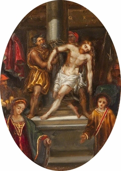 The Flagellation, with Saints Catherine and Stephen