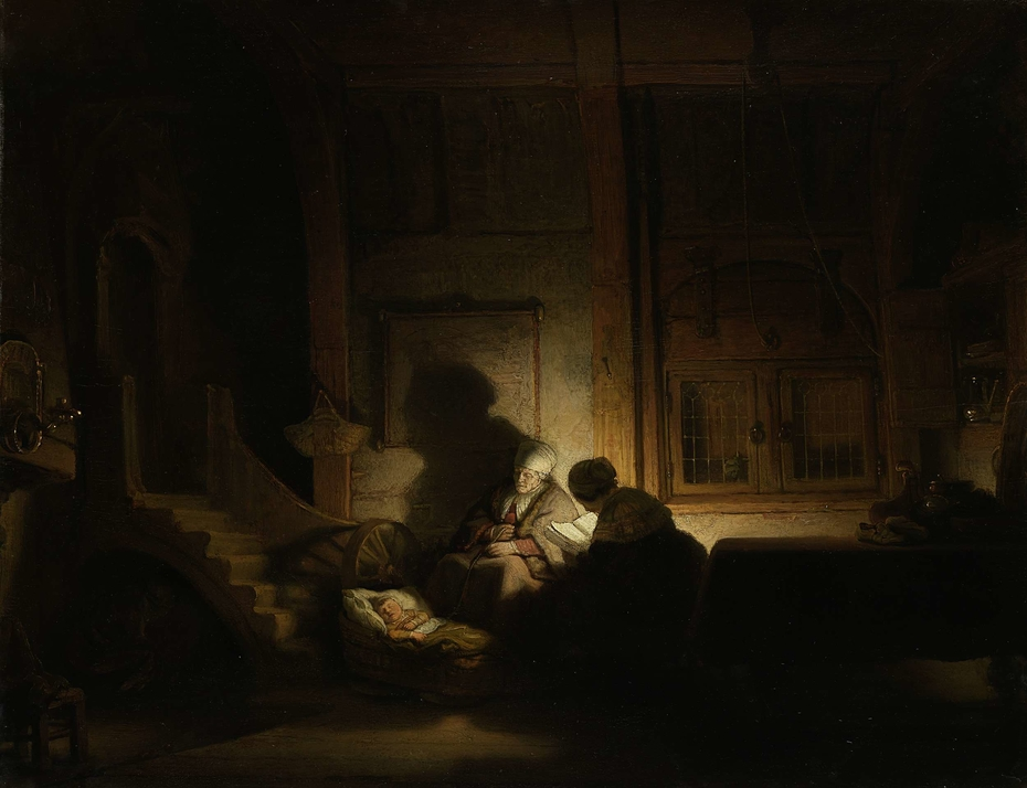 The Holy Family at Night