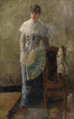 The Lady with Fan