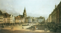 The Old Market in Dresden from Schlossgasse