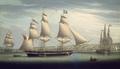 "The Ship ""Favorite"" Maneuvering Off Greenock"