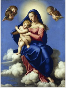 The Virgin and Child Seated in Clouds