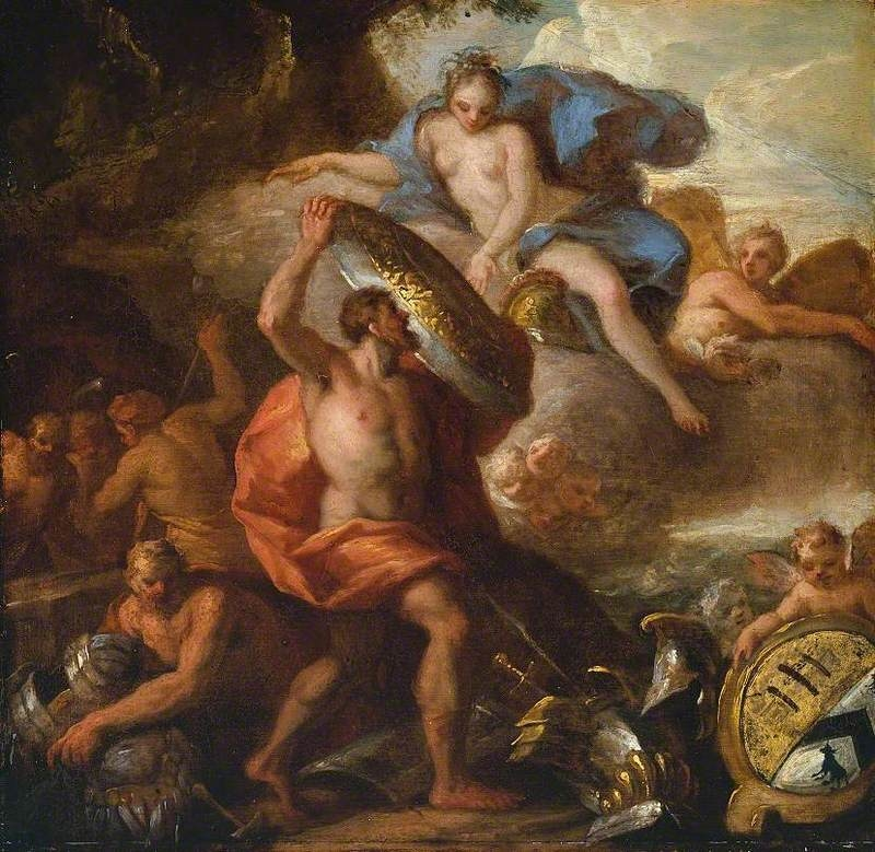 Thetis Accepting the Shield of Achilles from Vulcan