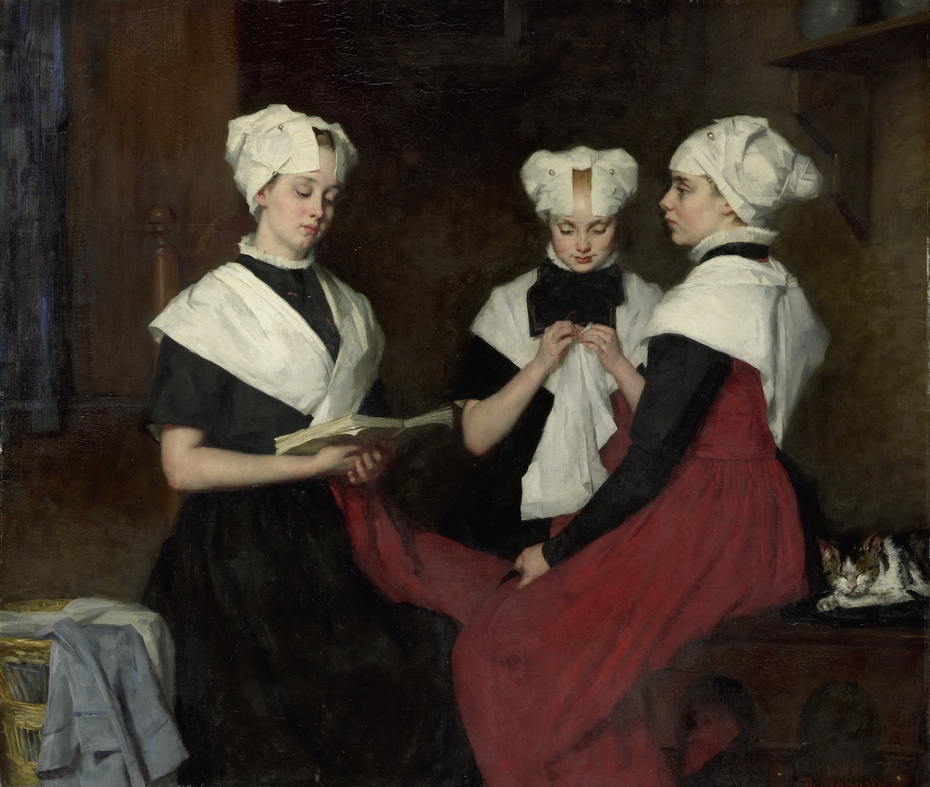 Three girls from the Amsterdam Orphanage