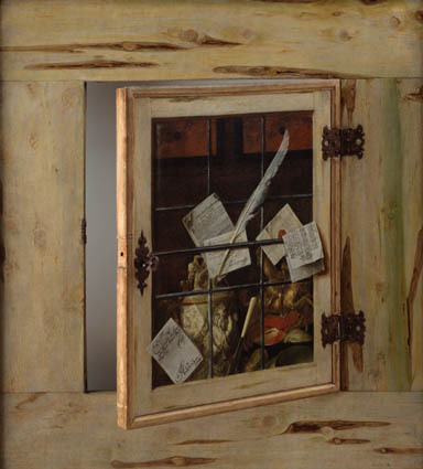 Trompe l'Oeil. A Cabinet of Curiosities with an Ivory Tankard