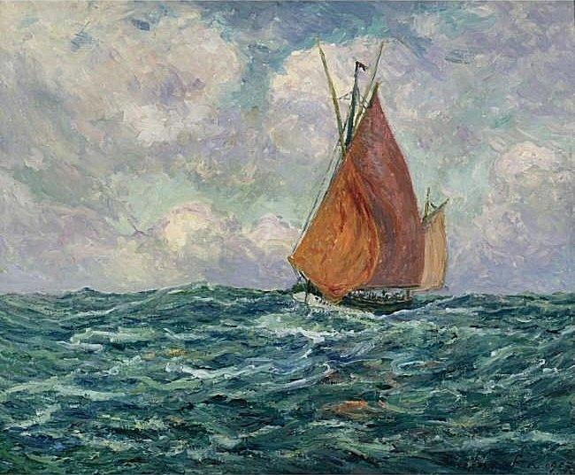 Tuna-fishing Boat at Sea