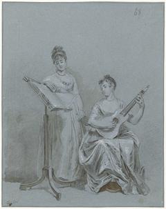 Twee musicerende dames