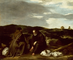 Two Monks in a Landscape