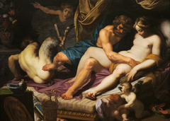 Hercules Kicking Faunus out of Omfale's Bed