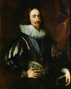 Carlo I con l'uniforme dell'Ordine della Giarrettiera