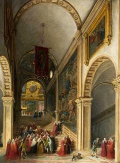 Doge visit to Scuola di San Rocco