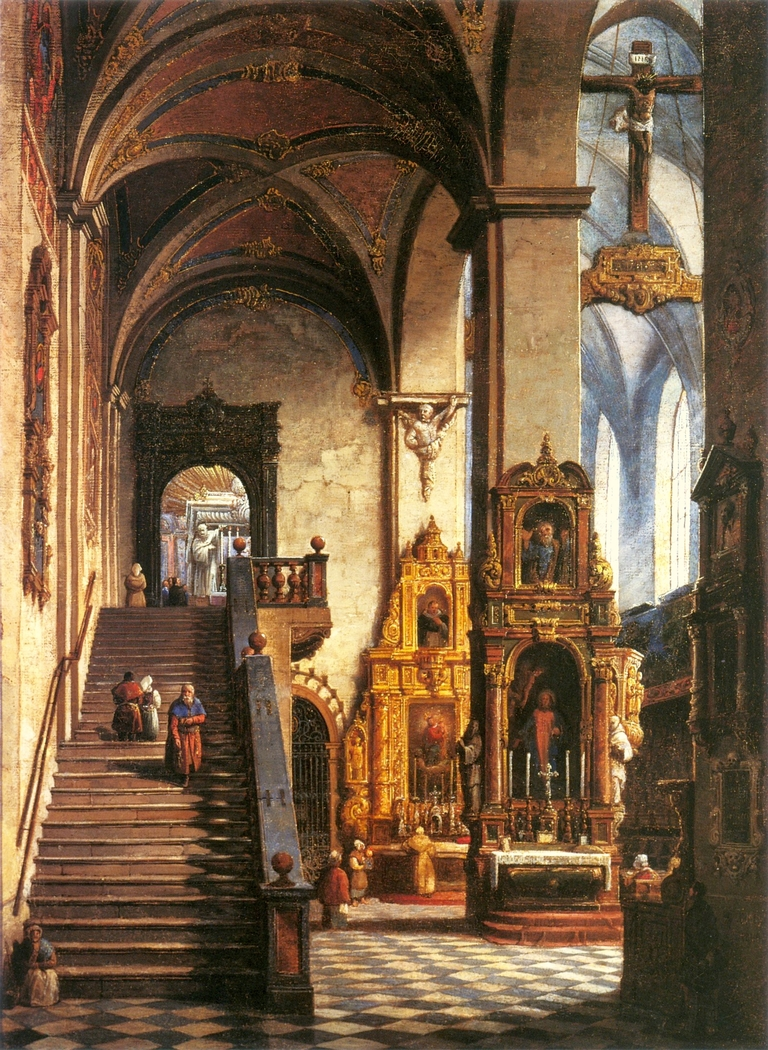 Interior of the Dominican Church in Kraków
