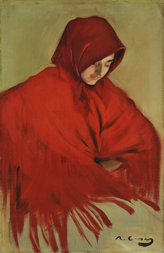 Gypsy with Red Rhawl (Gitana amb mantó vermell)
