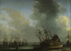 A Ship being Caulked
