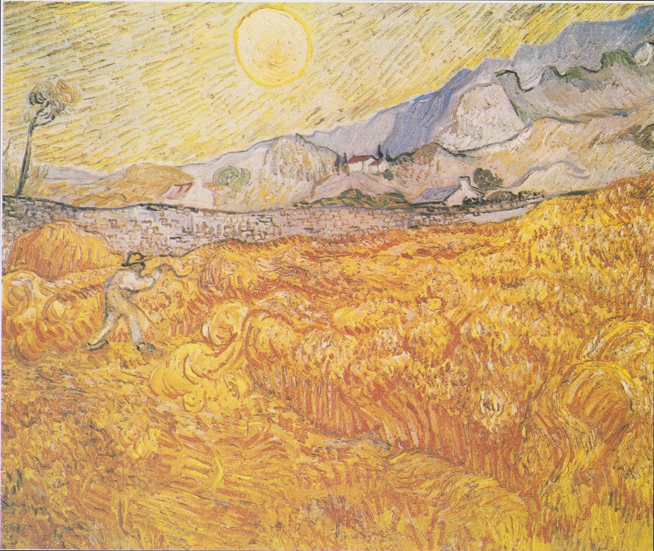 Wheat Field behind Saint Paul Hospital with a Reaper