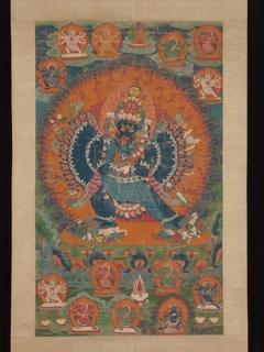 Vajrabhairava with His Consort Vajravetali