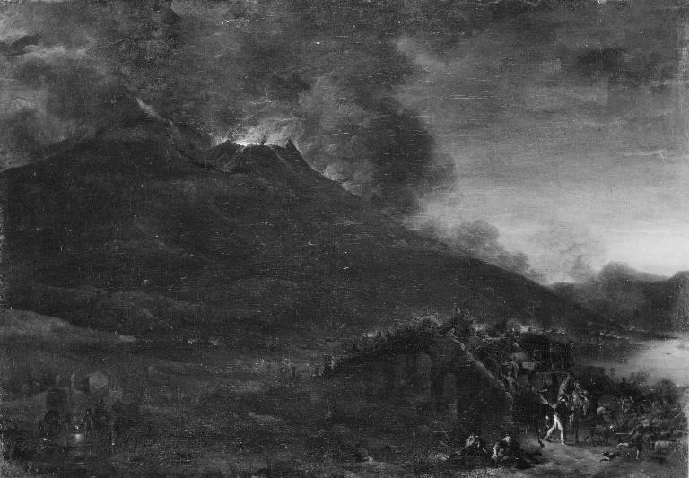 Vesuvius Erupting at Nightfall