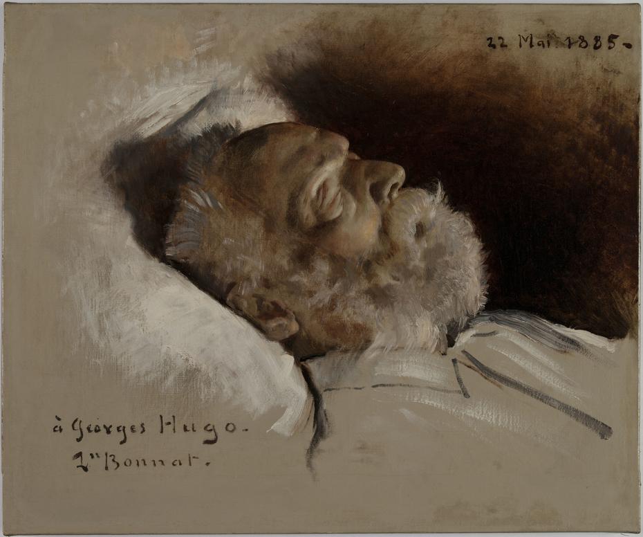 Victor Hugo sur son lit de mort