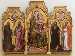 Vierge à l'enfant entre les saints Gérard, Paul, André et Nicolas
