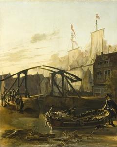 View of a Harbor in Schiedam