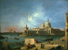 View of Santa Maria della Salute, from the entrance of the Great Canal