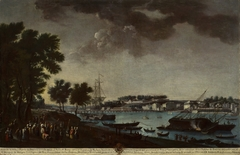 View of the Town and Port of Bayonne from the Pathways of Boufflers (La villa y puerto de Bayona tomada desde el paseo de Boufflers)