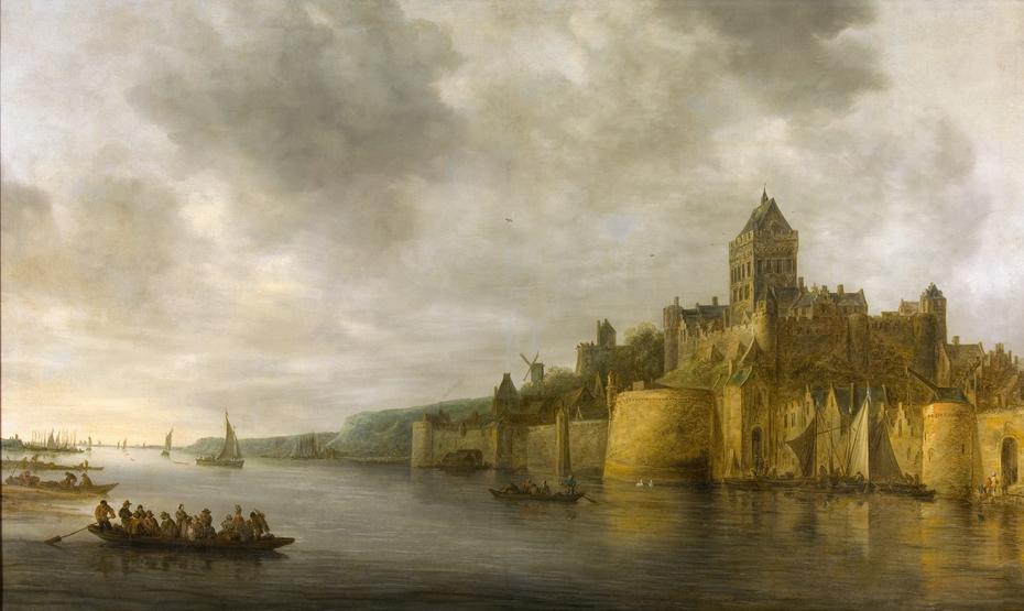 View of the Valkhof in Nijmegen