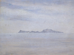 View over the sea to the island of Capri. May 9, 1828 (?)