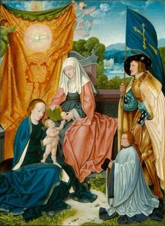 Virgin and Child with Saint Anne, Saint Gereon, and a Donor