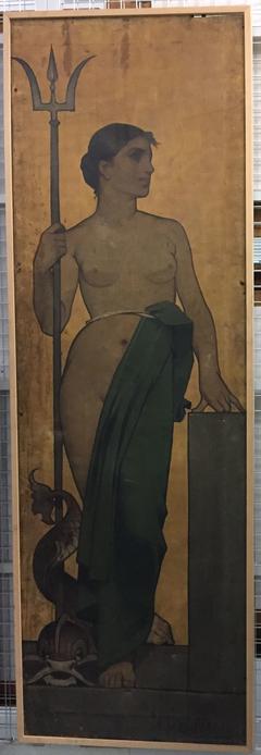 Vrouw met drietand (De zee)