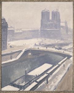 Vue de Notre-Dame sous la neige