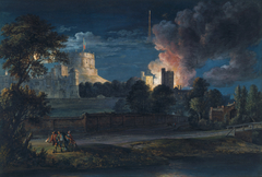 Windsor Castle from Datchet Lane on a Rejoicing night