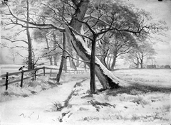 Winter Landscape with a Frozen Stream