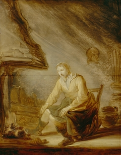 Woman before a Fire