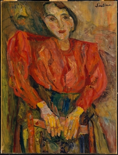 Woman in Red Blouse