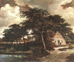 Wooded Road with a Cottage