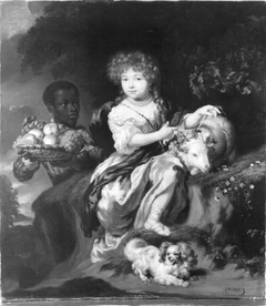 Young Girl with a Goat and a Moor