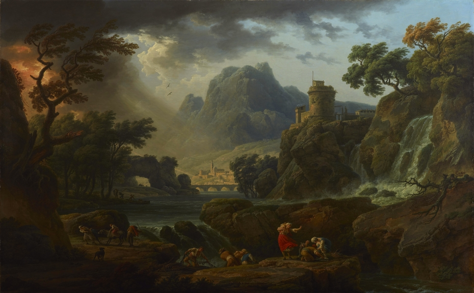 A Mountain Landscape with an Approaching Storm
