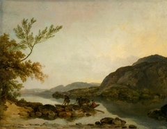 A River Scene with a Ferry